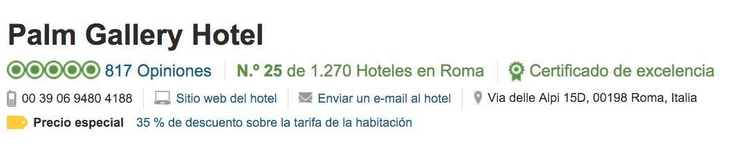 ficha del hotel en Tripadvisor